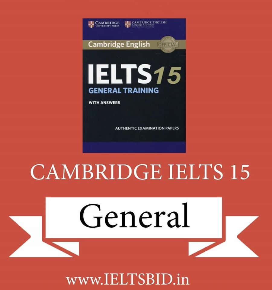Cambridge IELTS 15 for General Training students: Download (pdf+audio)
